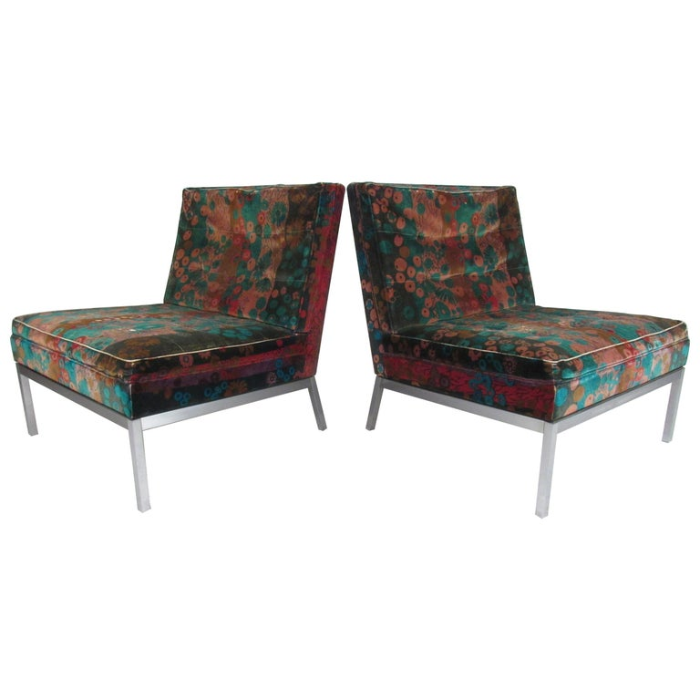 Pair of Midcentury Slipper Lounge Chairs by Knoll Associates Inc For Sale