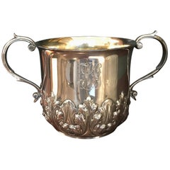 19th Century Sterling Silver Ice Bucket by Dominick and Haff