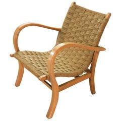 Bauhaus Beech Lounge Armchair by Erich Dieckmann, 1930s