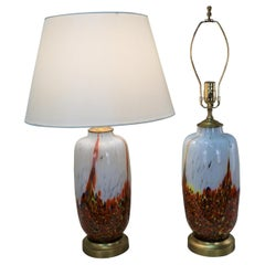 Pair of Italian 1960s Blown Glass Table Lamp