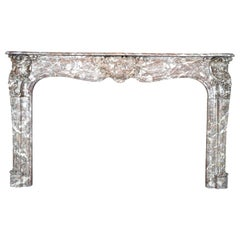 18th Century, Regency Grand Classic Antique Marble Fireplace Surround