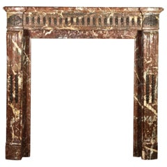 Petite Small Classic Antique Fireplace Surround in Belgian Marble