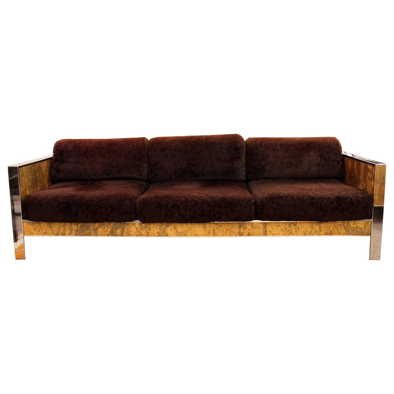 Mid Century Modern Adrian Pearsall Chrome /& Cork Loveseat 1970s Baughman Style