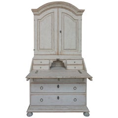 Period Gustavian Secretary with Library