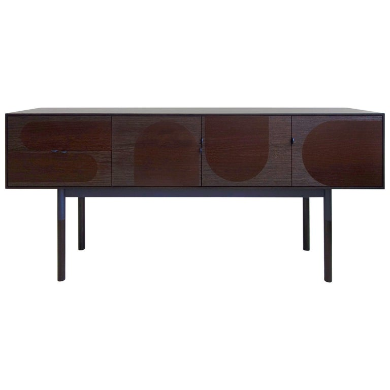 Woodsport Handcrafted Wenge and Oak Sideboard For Sale