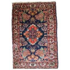 Handmade Antique Hamadan Style Rug, 1920s, 1B757