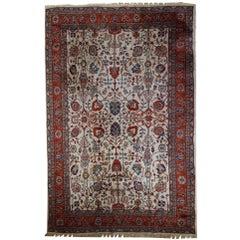 Handmade Vintage Mashad Style Rug, 1950s, 1C487