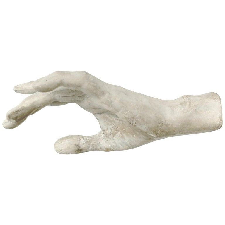Italy, circa 1890, Cast of Plaster Depicting a Hand