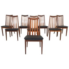 Set of 8 Dining Chairs by Leslie Dandy for G-Plan, British Design, 1960s