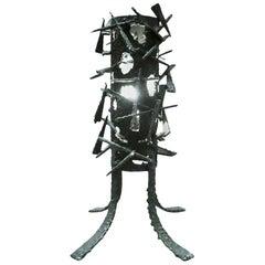 Brutalist Sculptural Lamp Attributed to Marcello Fantoni, 1960
