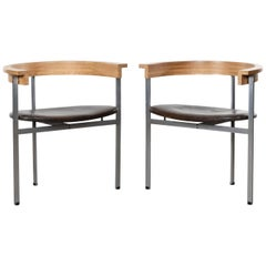 Poul Kjaerholm PK11 Chairs untouched originals for E Kold Christensen