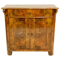 19th Century Louis Philippe Walnut Half Cabinet