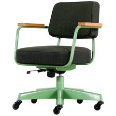 Jean Prouvé, Fauteuil Direction Pivotant 1951 Limited RAW Office Edit, Chair