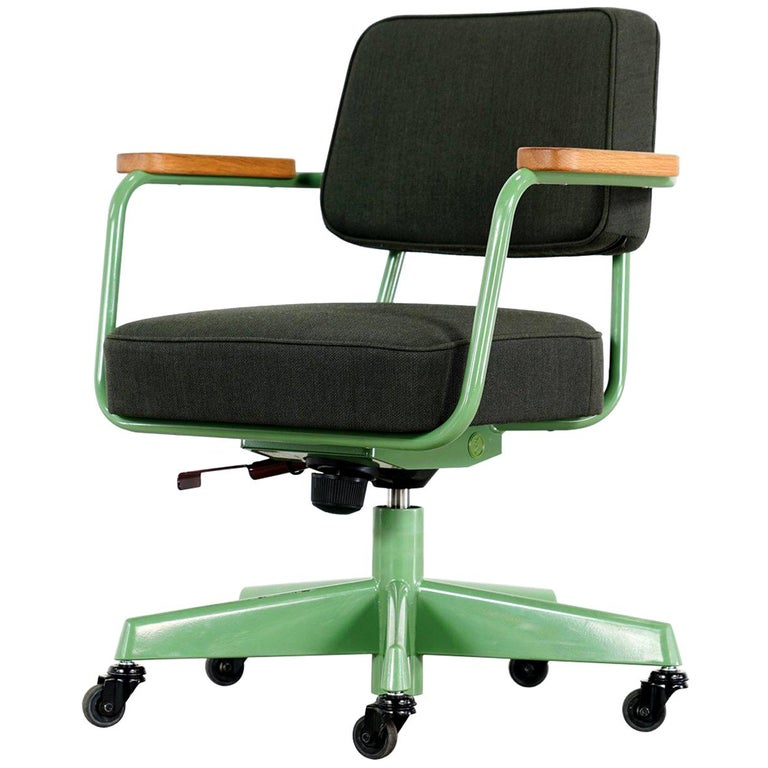 Jean Prouvé, Fauteuil Direction Pivotant 1951 Limited RAW Office Edit, Chair For Sale