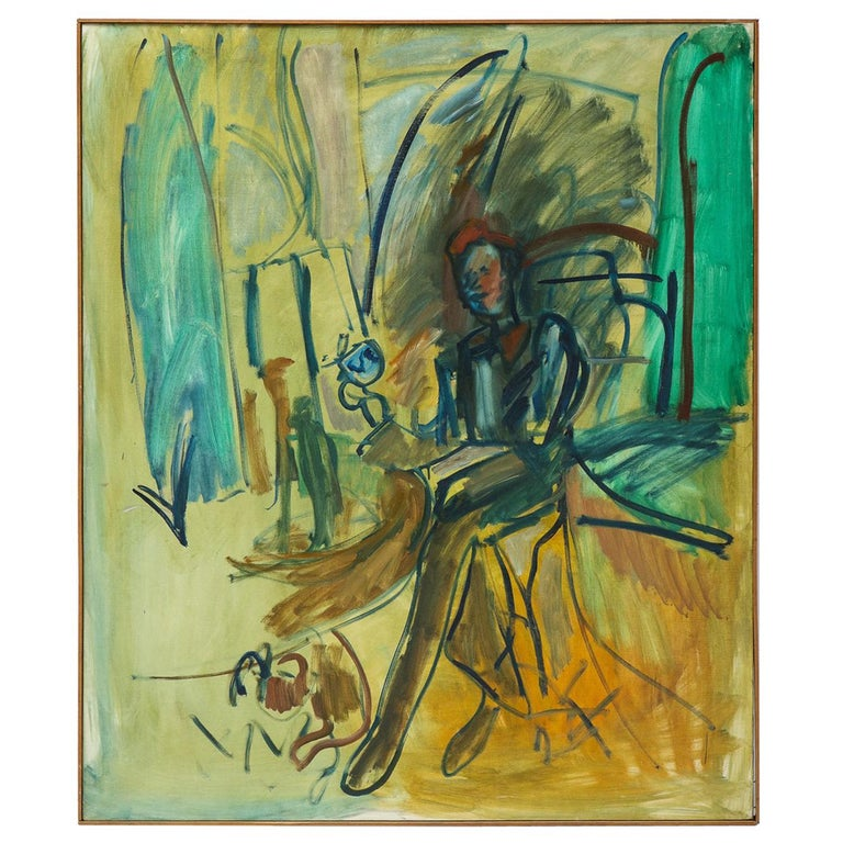 Painting, Large, circa 1960 For Sale