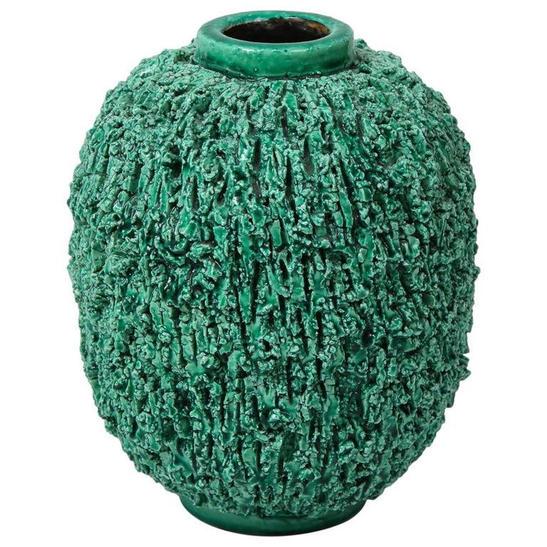 Ceramic vase by Gunnar Nylund, Sweden, circa 1950 For Sale