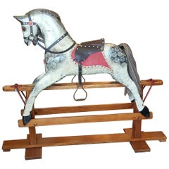 Late 19th-Early 20th Century Collinson Rocking Horse