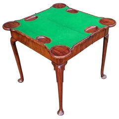 Early 18th Century George I Period Walnut Antique Card Table