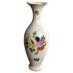 Herend Exquisite Stamped Tall Vase Handmade and Hand Painted, Hungary, 1976