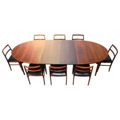 Danish Dining Room Set by Arne Vodder for Sibast Model: 212 Model: 430 Rosewood