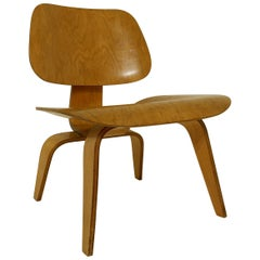 Chair Model DCW in Molded Plywood, First Edition by Charles & Ray Eames