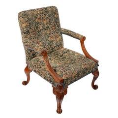 19th Century George II Style Walnut Gainsborough Arm Chair