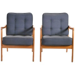Scandinavian Pair of Ole Wanscher FD109 Armchairs, 1960s