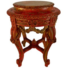 Parcel Gilt Hand Carved French Martini Table