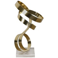 Aluminum and Lucite Ribbon Sculpture by Dan Murphy, 1982