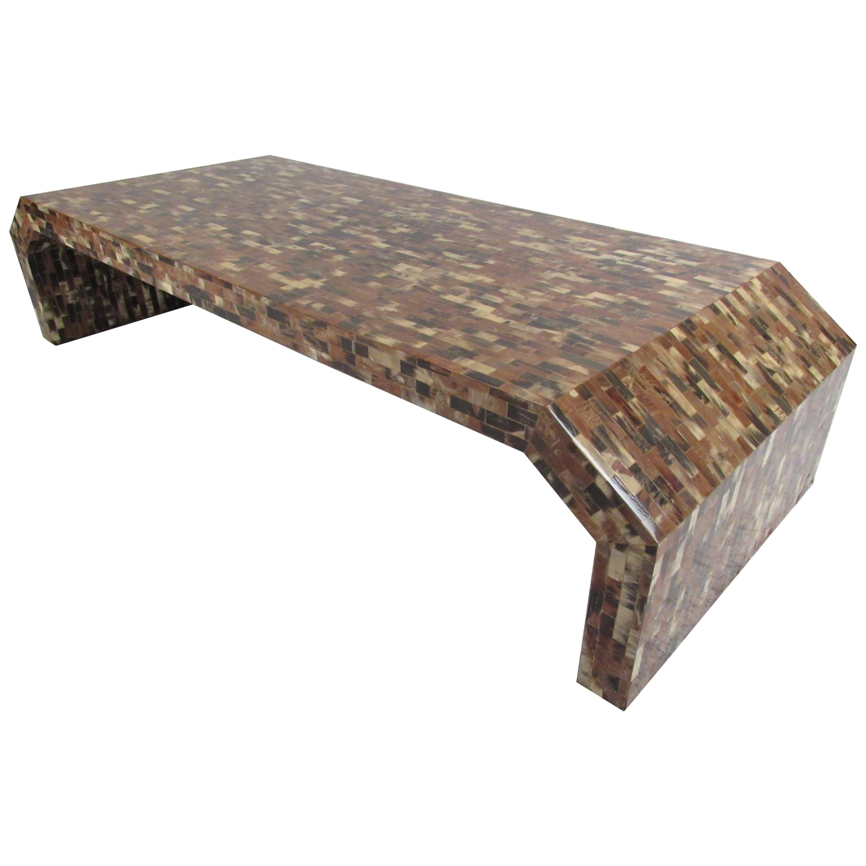 Midcentury Enrique Garcel Tessellated Horn Coffee Table