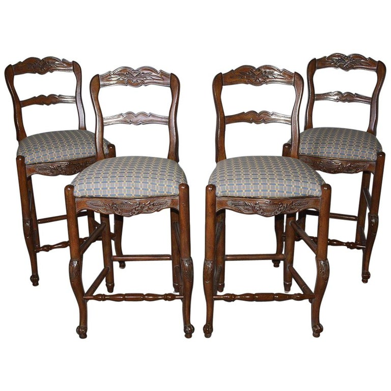 French Country Louis XV Style Counter/Bar Stools For Sale