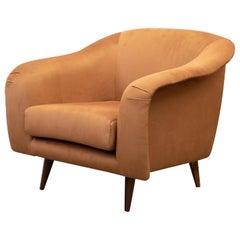 """Pair of """"Curva"""" Armchair, Joaquim Tenreiro, 1960s, Brazilian Midcentury Design"""