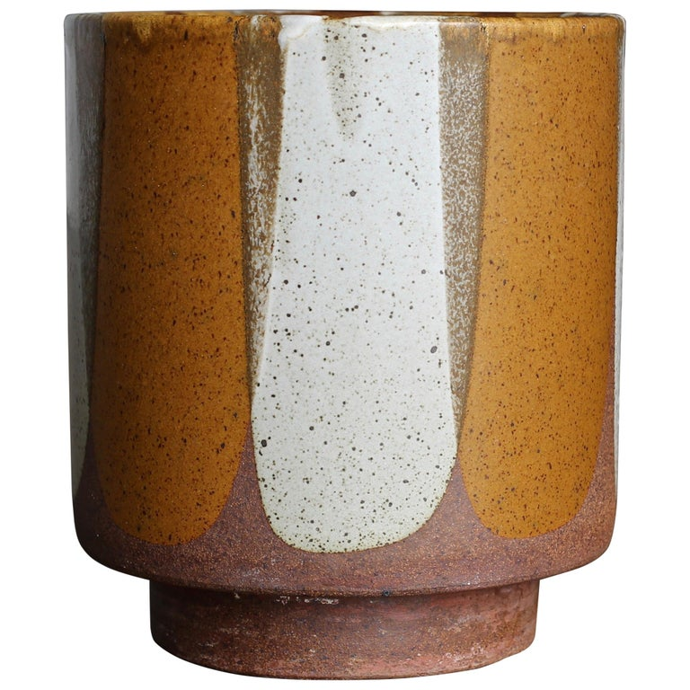 """David Cressey """"Flame Glaze"""" Planter for Architectural Pottery, circa 1965 For Sale"""