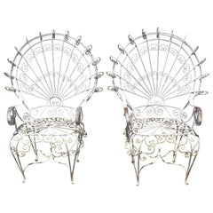 Pair of 1960s John Salterini Vintage Midcentury Peacock Chairs