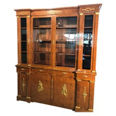 20th Century Empire French Amboyna Root Cabinet with Gilt Bronze, 1890s