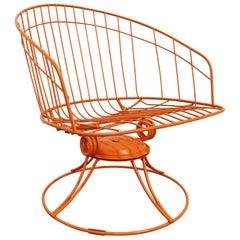 Mid-Century Modern Homecrest Bottemiller Kingston Patio Swivel Rocker Chair