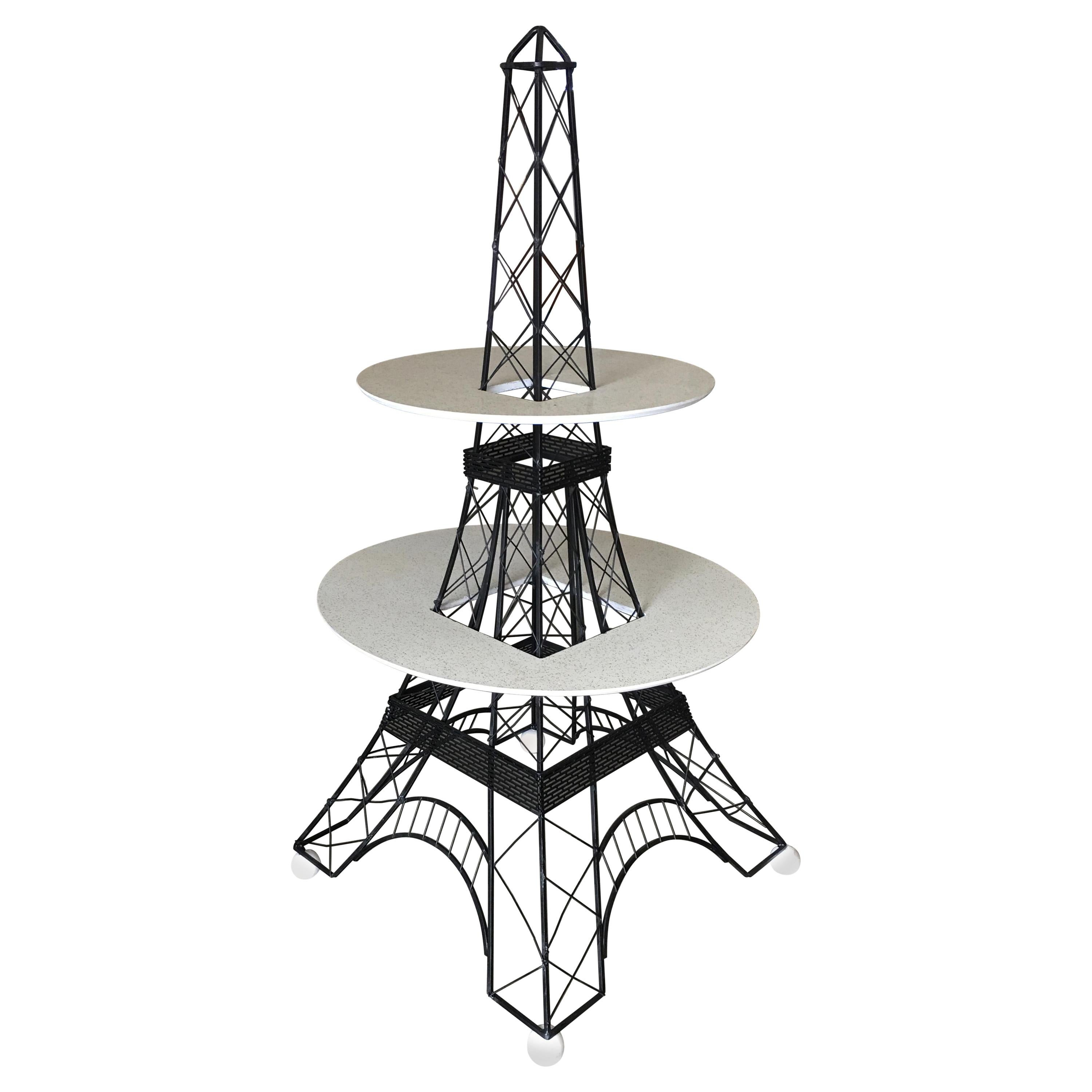 Midcentury Two-Tier Eiffel Tower Brass Sculptural Cocktail Table