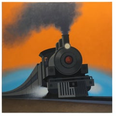 Locomotive, Original Painting by Lynn Curlee