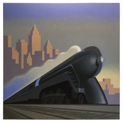"""Deco Train"" Original Painting by Lynn Curlee"