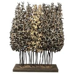 Welded Metal Grove of Trees Table Sculpture