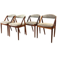 Set of Four Kai Kristiansen for Schou Andersen Model 31 Rosewood Dining Chairs