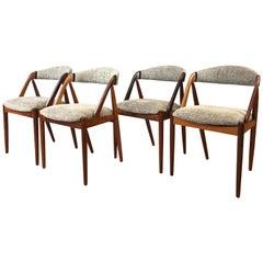 4 Kai Kristiansen Denmark Model 31 Rosewood Dining Chairs