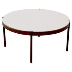 Extra Large Round Mid-Century Modern Conference Dining Table