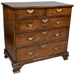 George II Walnut Bachelors Chest of Drawers