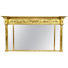 Regency Giltwood Overmantle Mirror