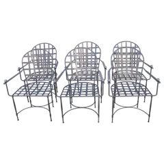 Six Mario Papperzini for John Salterini Patio Chairs