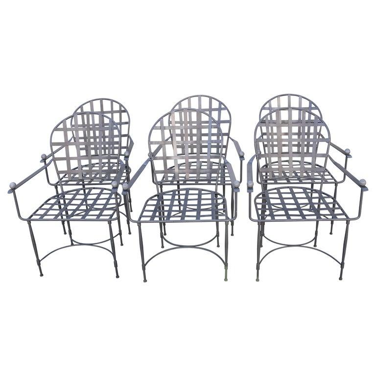 Six Mario Papperzini for John Salterini Patio Chairs For Sale