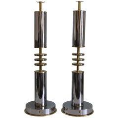 Pair of Custom Art Deco Style Lamps