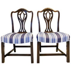 18th Century Walnut Prince of Wales Chairs, Pair