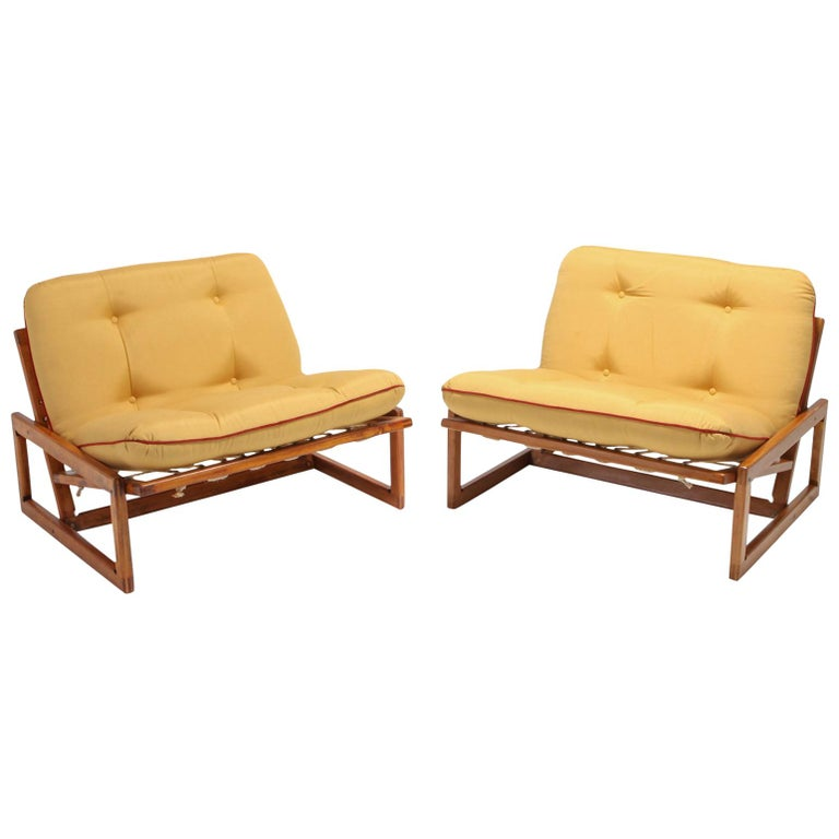 Afra and Tobia Scarpa Pair of 'Carlotta' Lounge Chairs for Cassina For Sale
